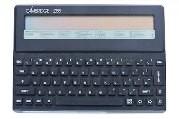 Front view of the Cambridge Computer Z88